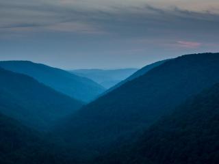 Last Light on the Hills
