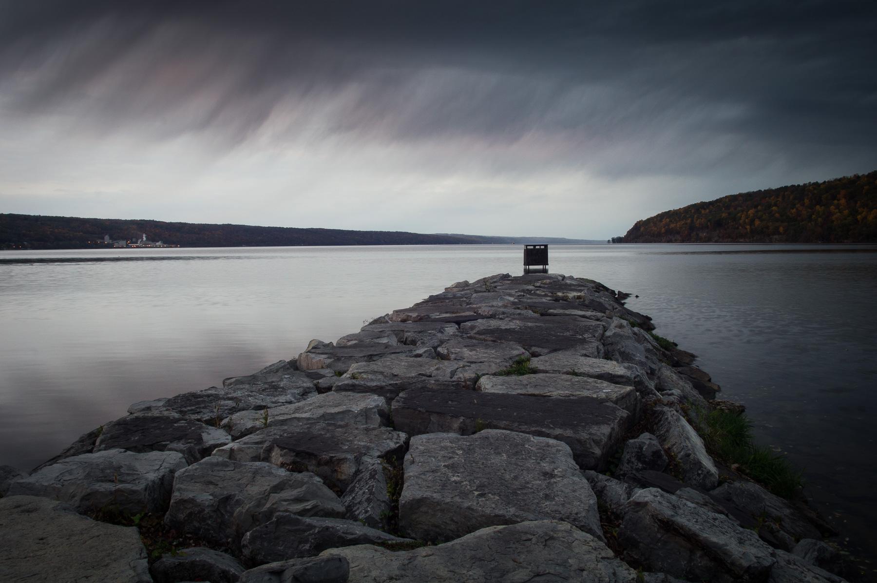 Rain on Seneca Lake